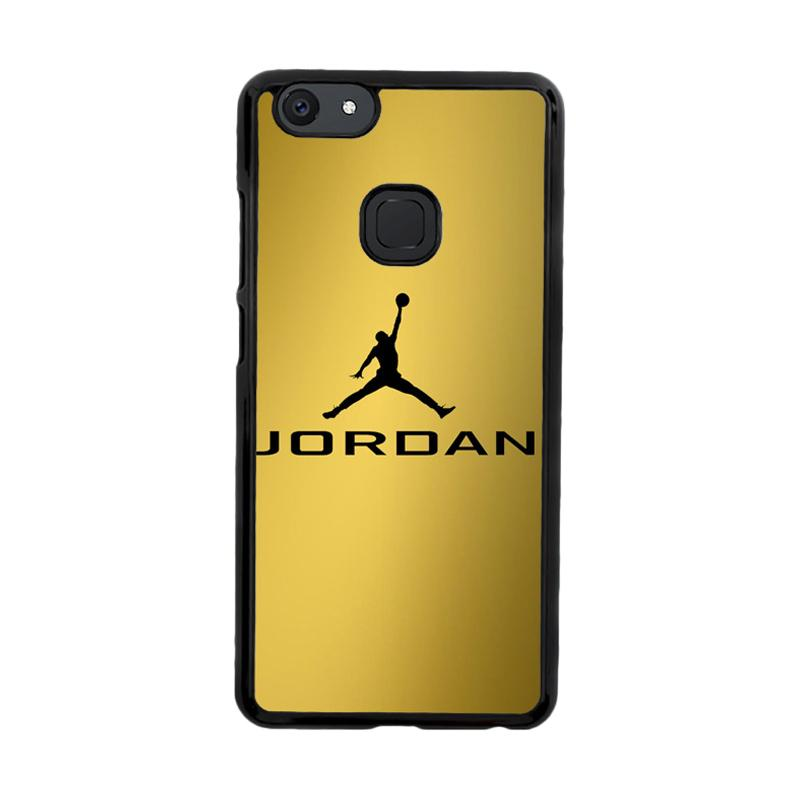 Flazzstore Michael Jordan Logo Gold Z4468 Custom Casing for Vivo V7
