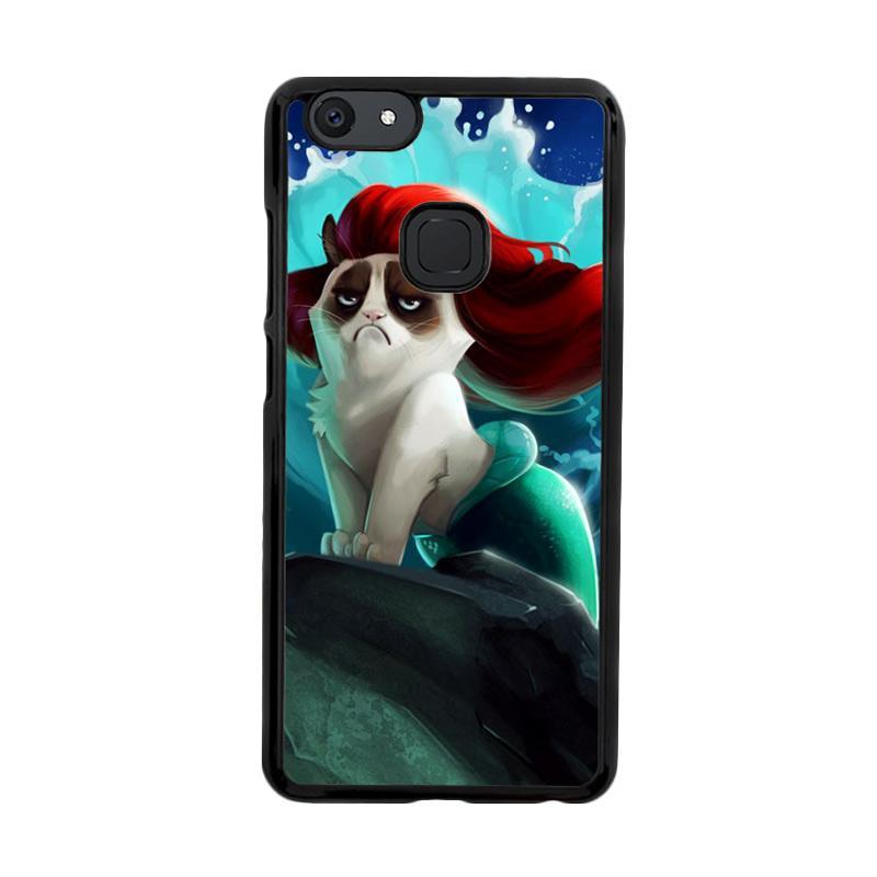 Flazzstore Grumpy Cat And Disney The Little Mermaid Z0023  Custom Casing for Vivo V7