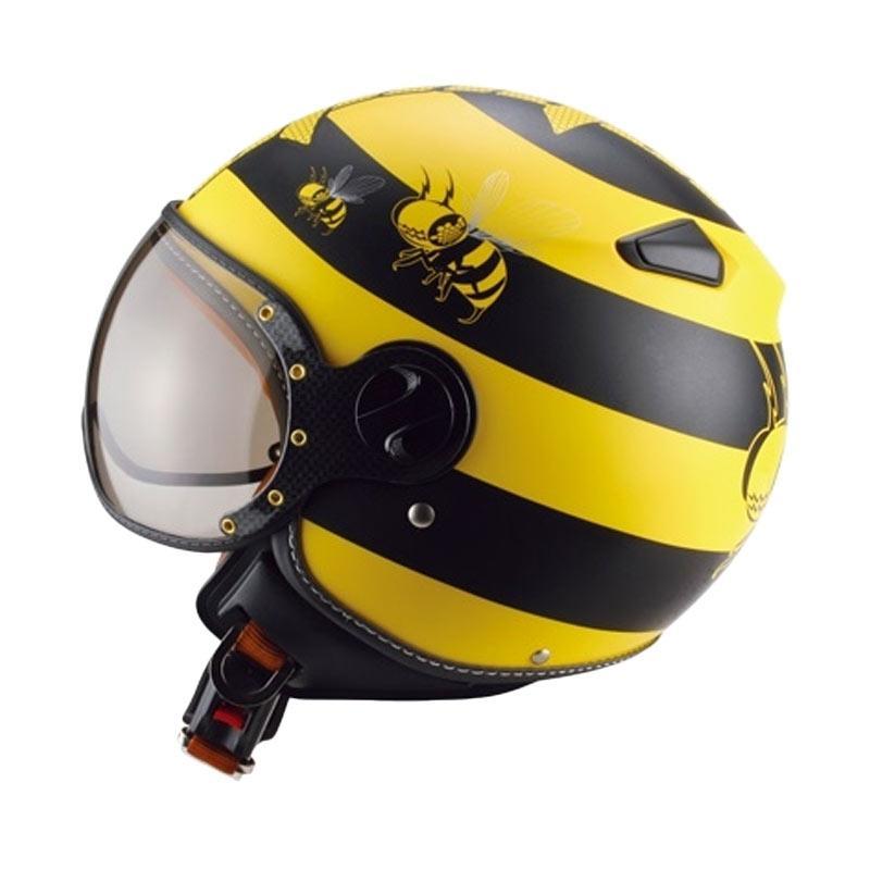 harga Zeus ZS-210K Retro Helm Half Face - Yellow DD14 Black Blibli.com