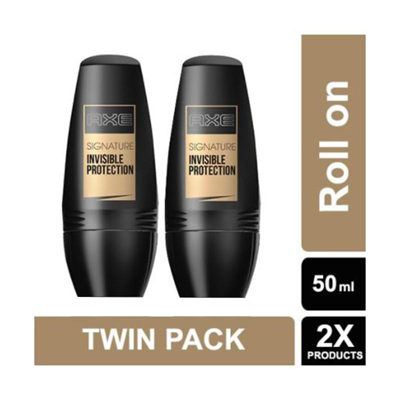 harga AXE Roll On Signature Invisible Protection Deodorant [50mL/ Twin Pack] Blibli.com