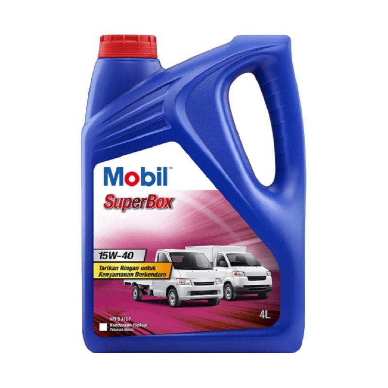 harga Exxon Mobil 1 SuperBox 15W-40 [4 Liter] - Pelumas Oli Mesin Mobil DESIGN KHUSUS MOBIL NIAGA - MINIVAN - MOBIL BOX - PICKUP - BAK TERBUKA - TRUK KECIL Blibli.com