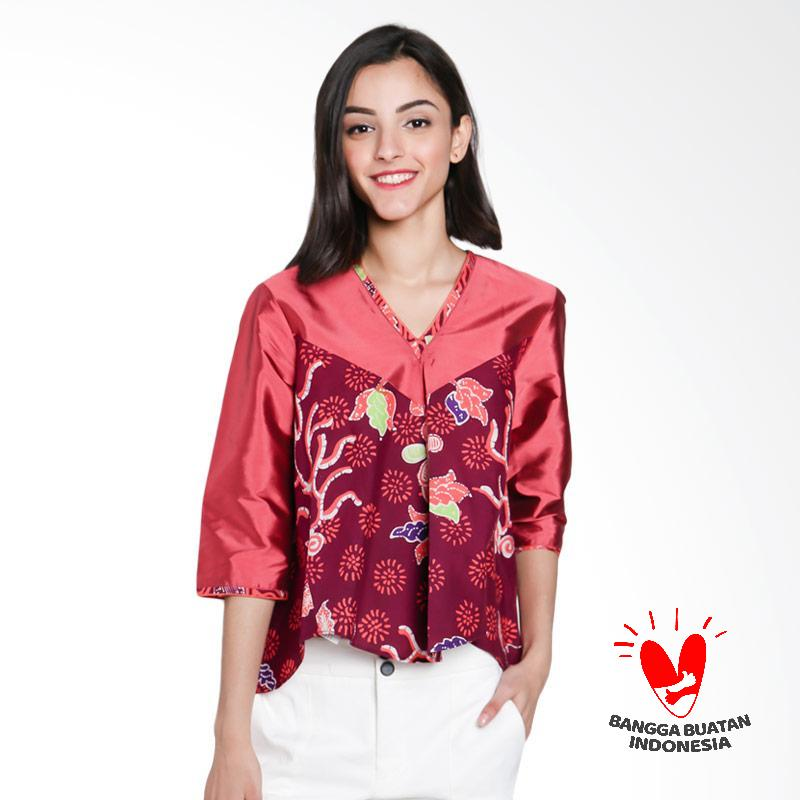 harga Lombang Batik Blus Kragh V Atasan Wanita - Bata Blibli.com