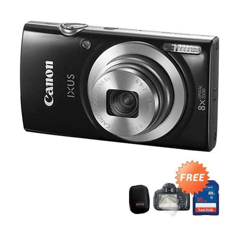 harga Canon Ixus 185 Kamera Pocket - Hitam + Free Pouch + Lens Screen Protector + Kartu Memori Blibli.com