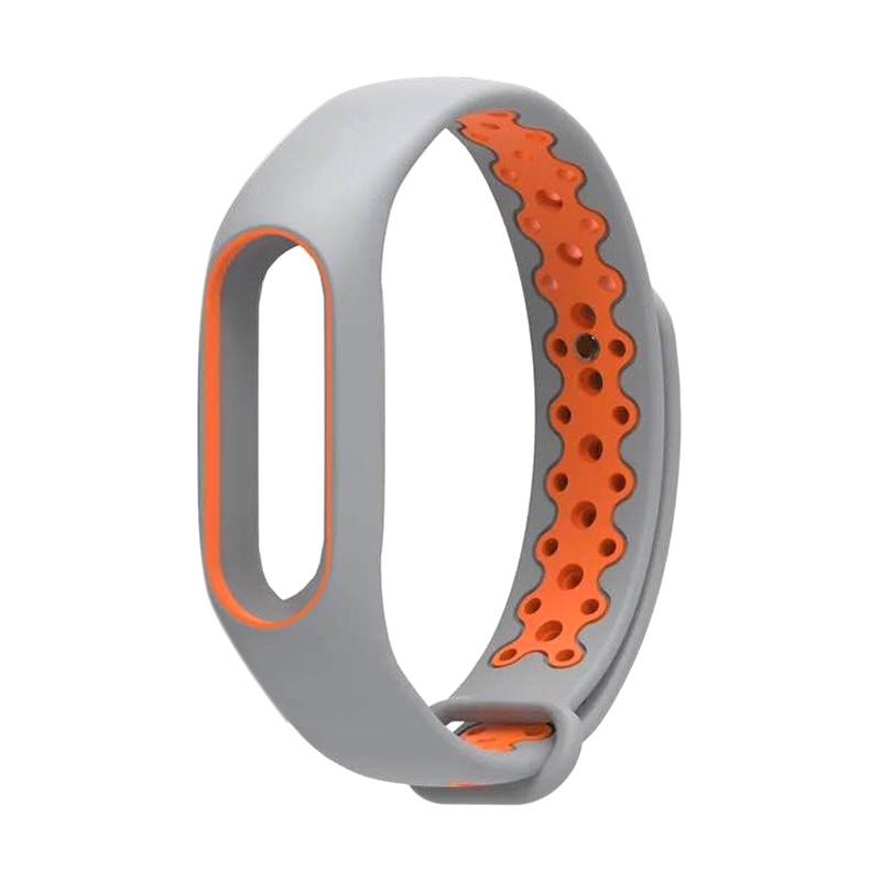 OEM Strap Sport for Xiaomi Mi Band 2 Oled Display - Grey Orange