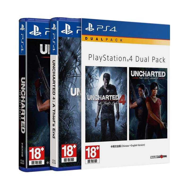 harga SONY PS4 Dual Pack: Uncharted Double Pack DVD Game Blibli.com