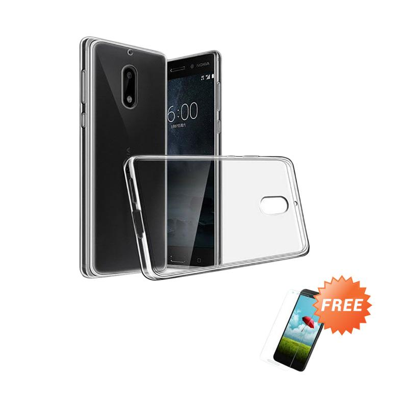harga OEM Ultra Thin Softcase Casing for Nokia 2 2018 - Clear + Free Tempered Glass Blibli.com