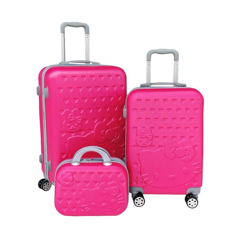 DJ Fashion HK Set 3In1 Koper - Pink Fanta