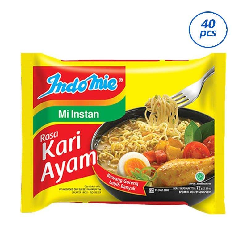 Indomie Mie Kari Ayam [72 g/ 40 pcs]