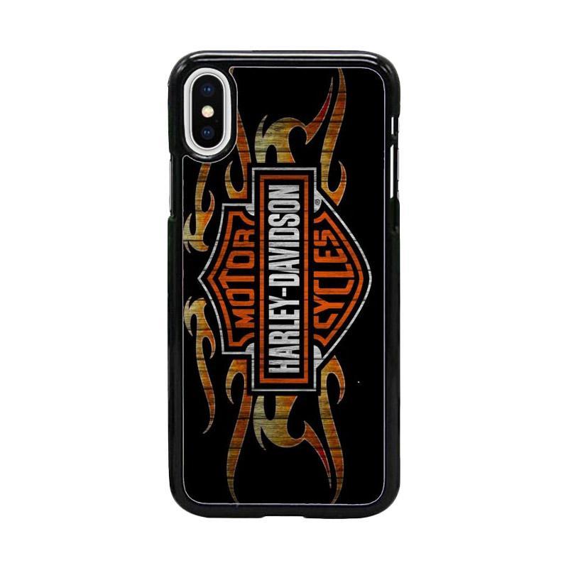 Acc Hp Harley Davidson Logo W5118 Custom Casing for iPhone X