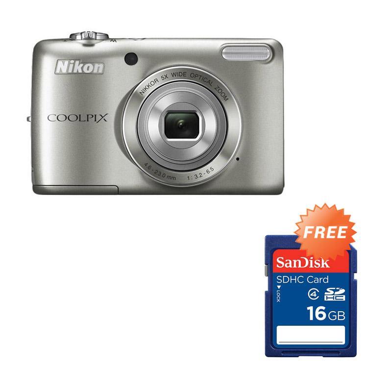 harga Nikon Coolpix A100 Pocket - Silver RESMI + FREE Sandisk SDHC 16GB Blibli.com