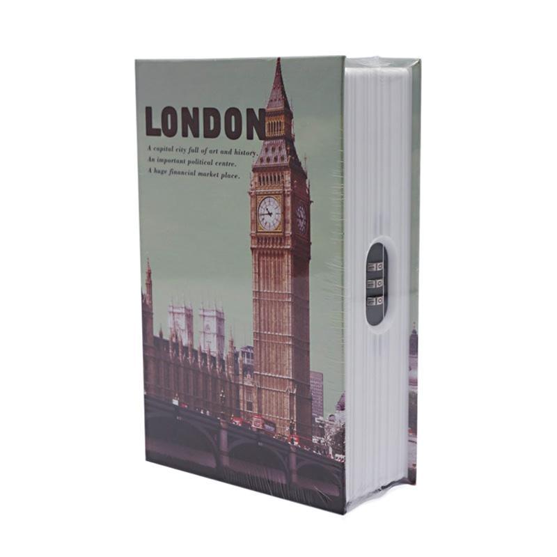 Krisbow Buku Motif Kota London Brankas [18 x 11.5 x 5.4 cm]