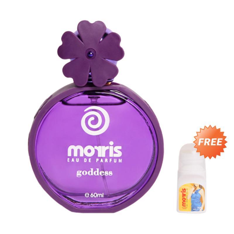 harga Morris Bunga Goddess EDP Parfum Wanita [60 mL] + Free Morris Roll On Energic [70 mL] Blibli.com