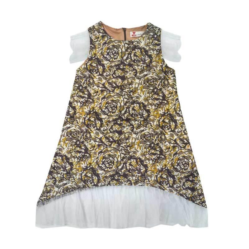 harga Tiny Button Tile Bunga Dress Anak - Coklat Blibli.com