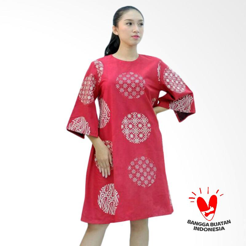 Harga Serat SD 0203 BB Seckdress Batik Cap Bola Dress - Red Di Online Store