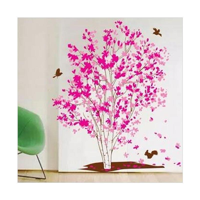Jual Oem Trans Pink Maple Tree Wall Stiker Dekorasi Dinding 60 X 90 Cm Terbaru Harga Promo September 2019 Blibli Com