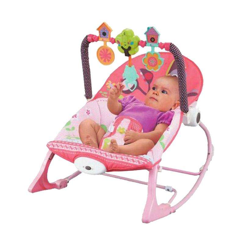 Pliko Infant To Toddler Rocker Baby Bouncer - Pink