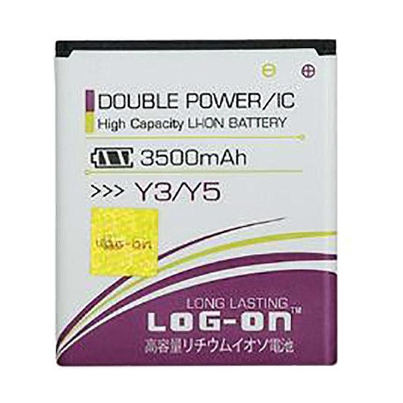 harga Log On Double Power Battery for Huawei Y3 or Y5 [3500 mAh] Blibli.com