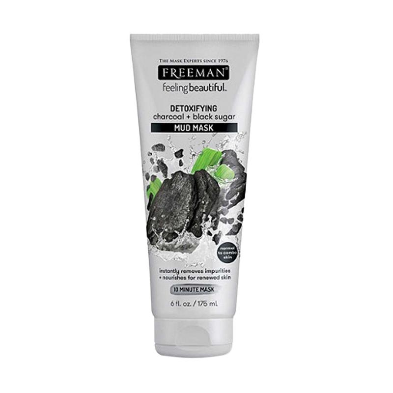 Freeman Detoxifying Charcoal Black Sugar Mud Mask 175 mL