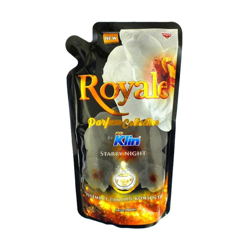 WINGS So Klin Royale Parfum Starry Night Pelembut Pakaian [900 mL]