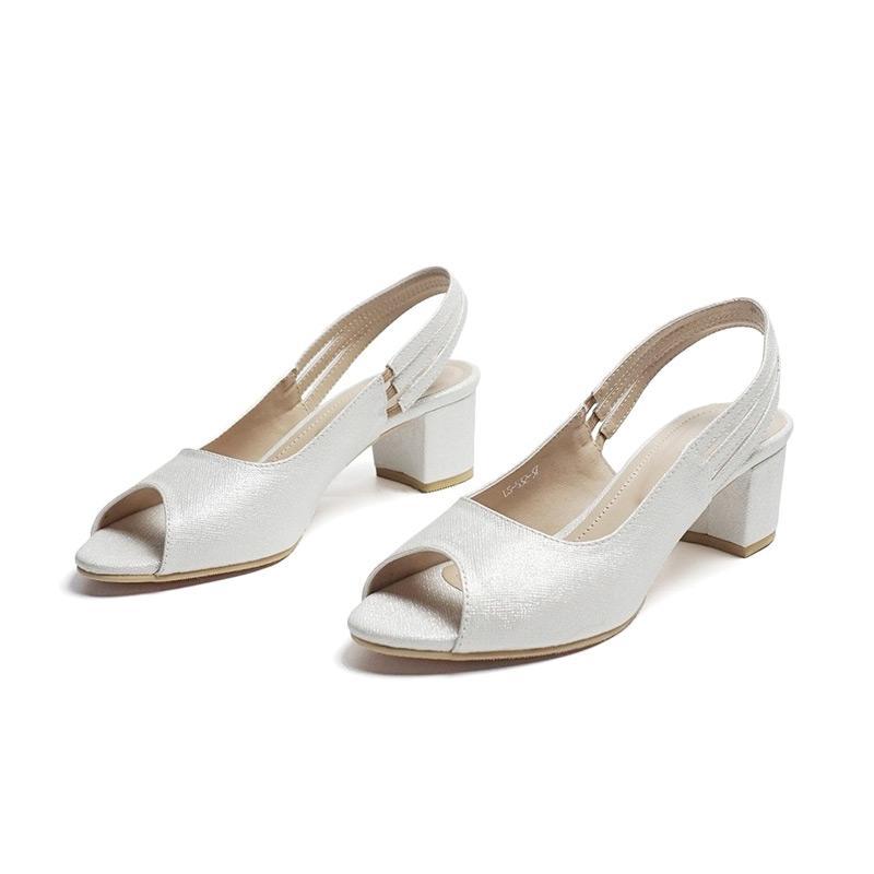 Jual Rosalia Brand SC Gisele Slingback Sepatu Heels Wanita - Silver Online  Maret 2021 | Blibli