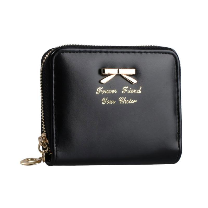 Women Lady Crown Leather Wallet Case Cute Color Purse Pouch with Wristlet Clutch