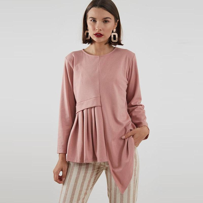 Berrybenka Virra Pleats Blouse Pink
