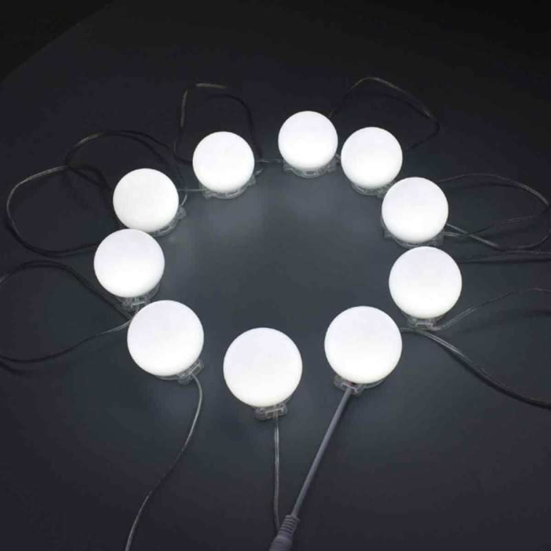 Color Makeup Mirror Lamp Dimmable