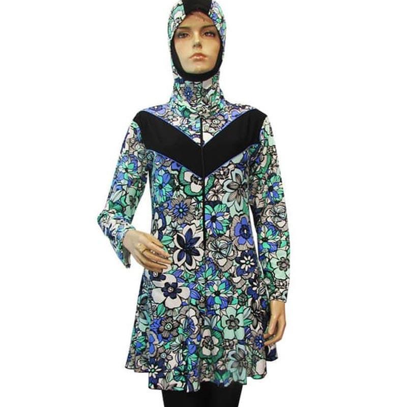 Jual Baju Renang Muslimah Jumbo Bahan Premium Lycra Motif Bunga