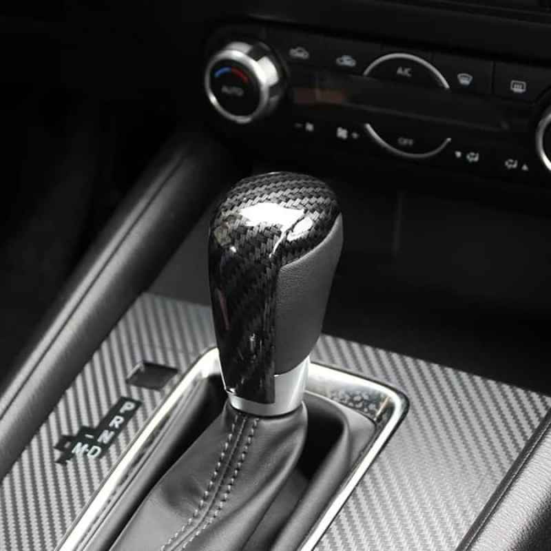 RED STITCHING REAL LEATHER GEAR STICK GAITER FITS MAZDA 6  2002-2007
