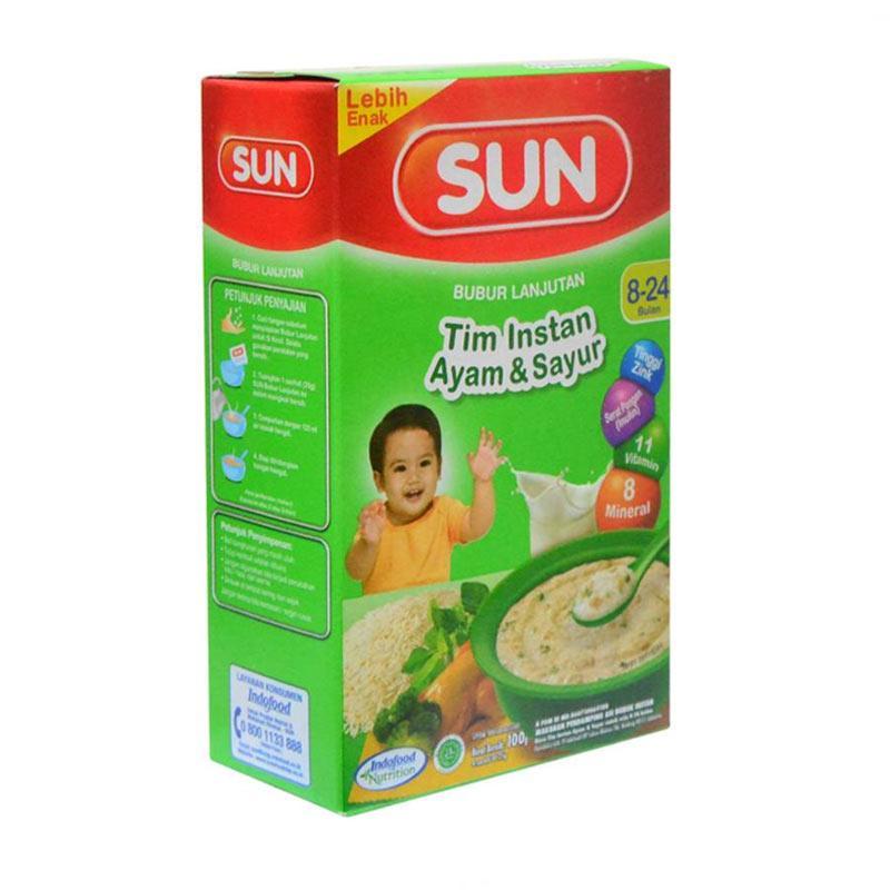 Jual Sun Rasa Ayam Sayur Bubur Bayi Lanjutan Tim Instan Usia 8 24