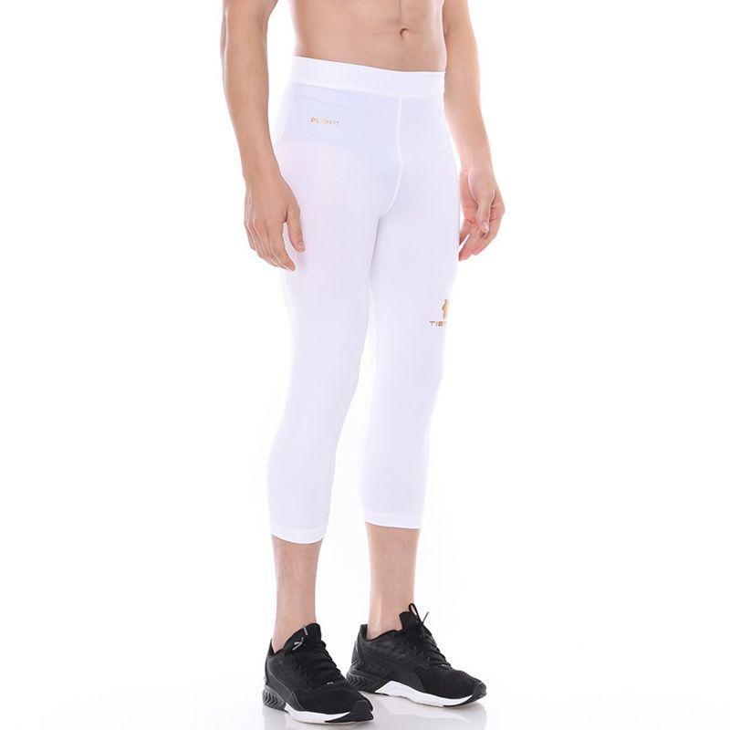 Jual Tiento Baselayer Men Rashguard Compression Celana Olahraga Pria 3 4 Pants White Legging Sport Renang Celana Lari Running Leging Fitness Celana Gym Online Oktober 2020 Blibli Com