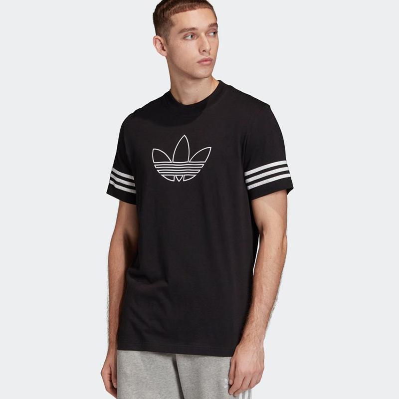 adidas Outline Originals T Shirts Atasan Olahraga Pria
