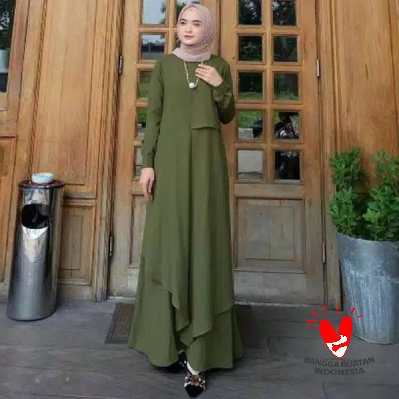 Jual Fmos Olivia Maxi Dress Gamis Syar I Wanita Online Maret 2021 Blibli