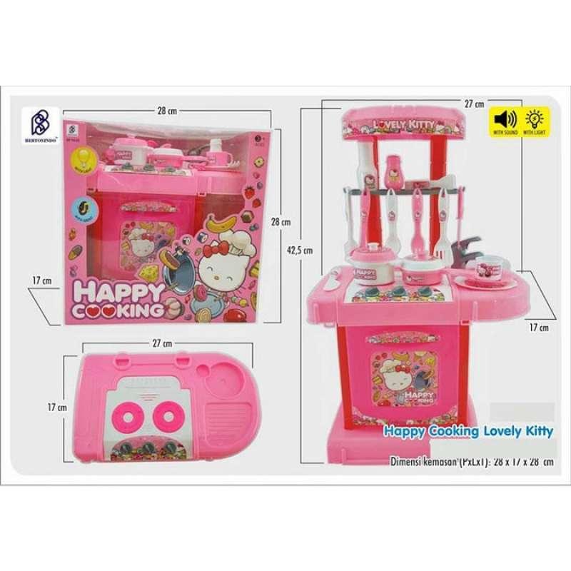Daymart Toys Happy Cooking Kitchen Set Kitty Pink Mainan Dapur Anak