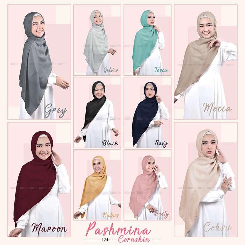 Jual Vazya Hijab Pashmina Tali Cornskin 180 X 75 Hijab Jilbab Online Maret 2021 Blibli