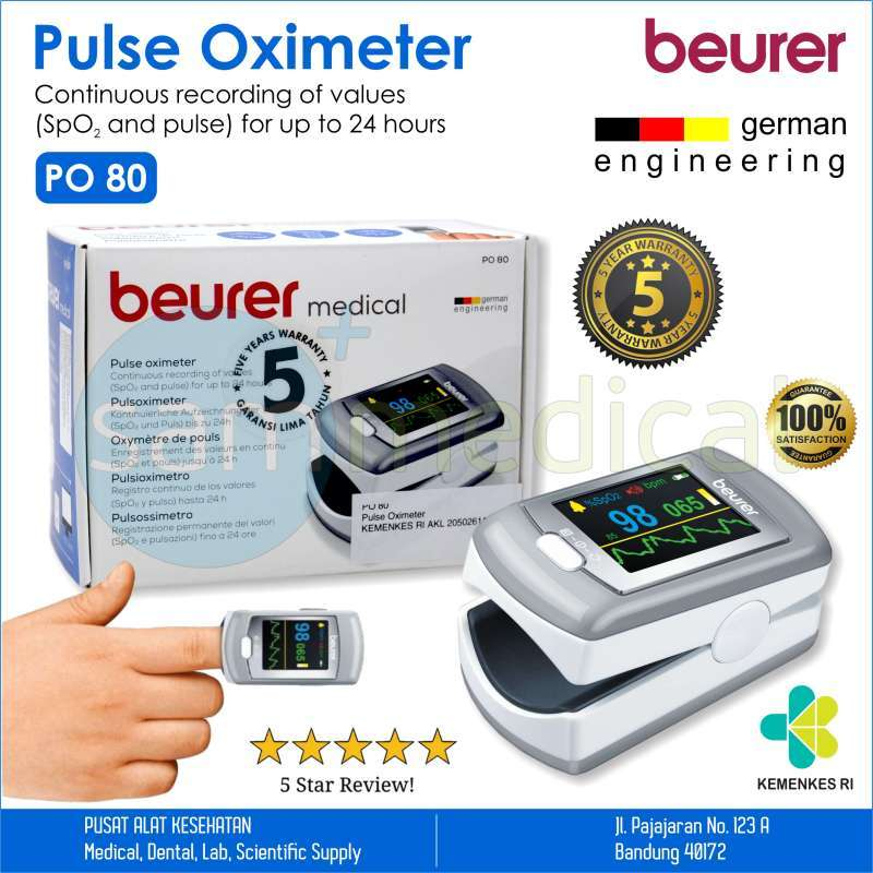 BUERER PO80 Pulse Oxymeter Garansi