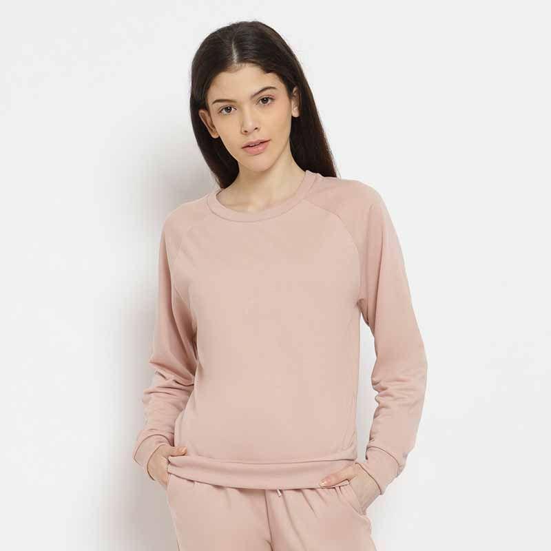 BLYTHE Basic Sweater Wanita Dusty Pink