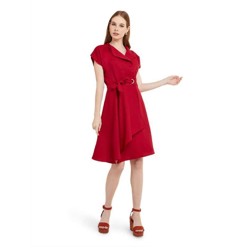 Mini Dress Kasual Lengan Pendek