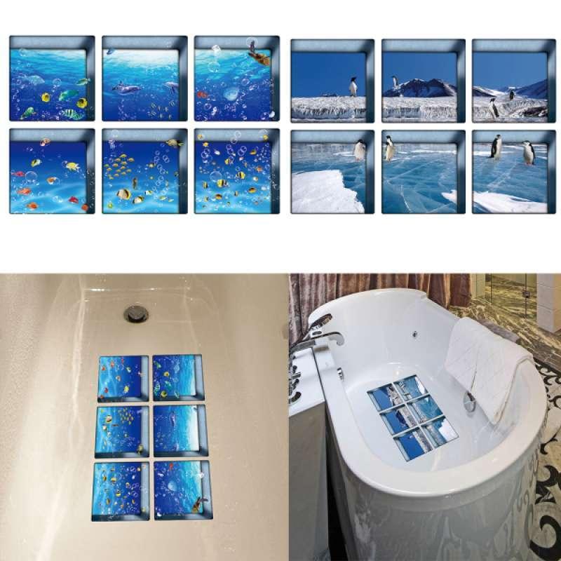 12pcs Non Slip Bathtub Stickers Tub Shower Tattoos Decals Waterproof 3D