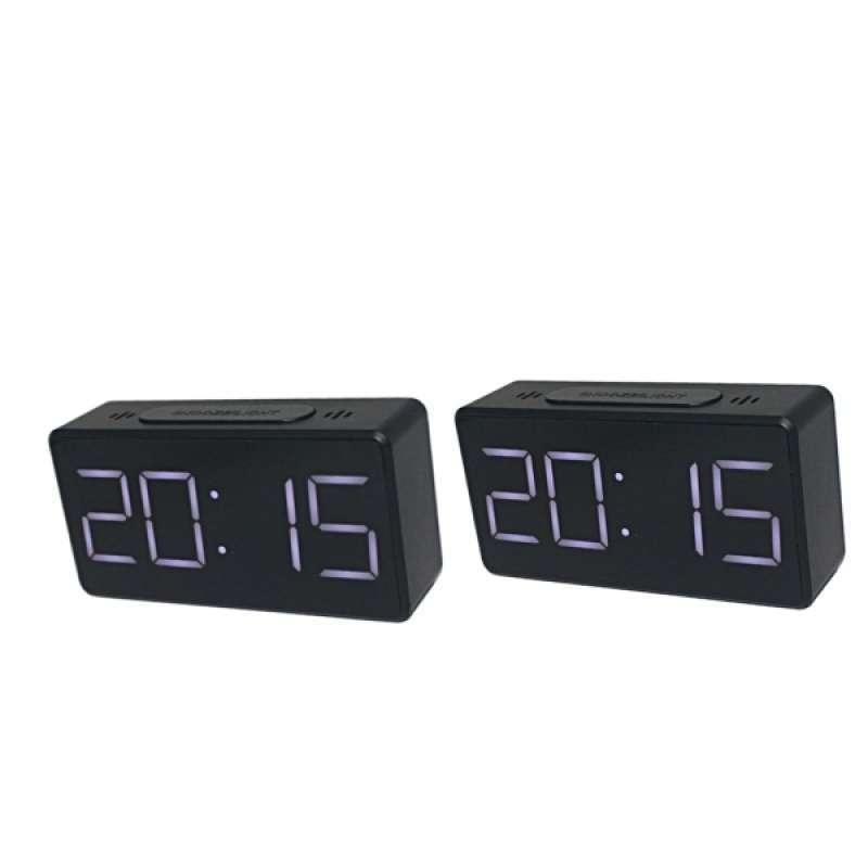 Jual 2x Led Digital Alarm Clock Modern Mirror Desk Wall Clock Simple Operation Gifts Online November 2020 Blibli Com