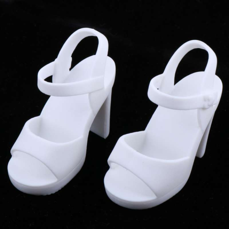 MagiDeal 1//6 BJD Doll High Heel Jelly Shoes Sandals for 12inch Dolls Accessory
