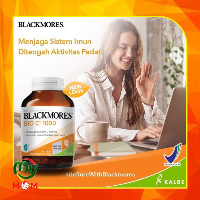 Jual Bpom Blackmores Bio C 1000mg Kalbe 90 Tablet Black Mores Bio C Vitamin C My Mom Online Januari 2021 Blibli