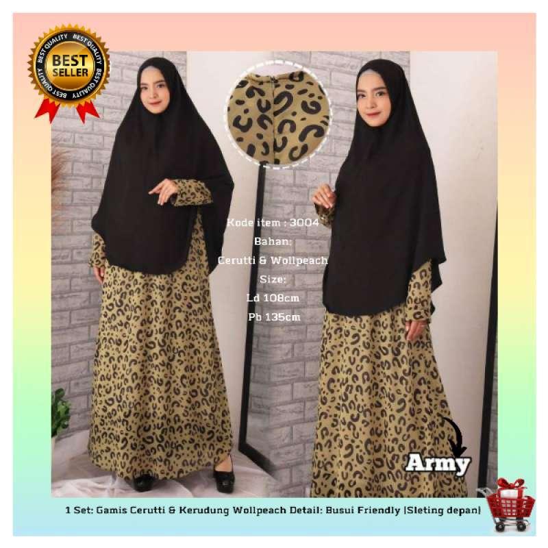 Jual Baju Gamis Syari Syar I Set Baju Gamis Cerutti 3004 Motif Tutul Online Maret 2021 Blibli