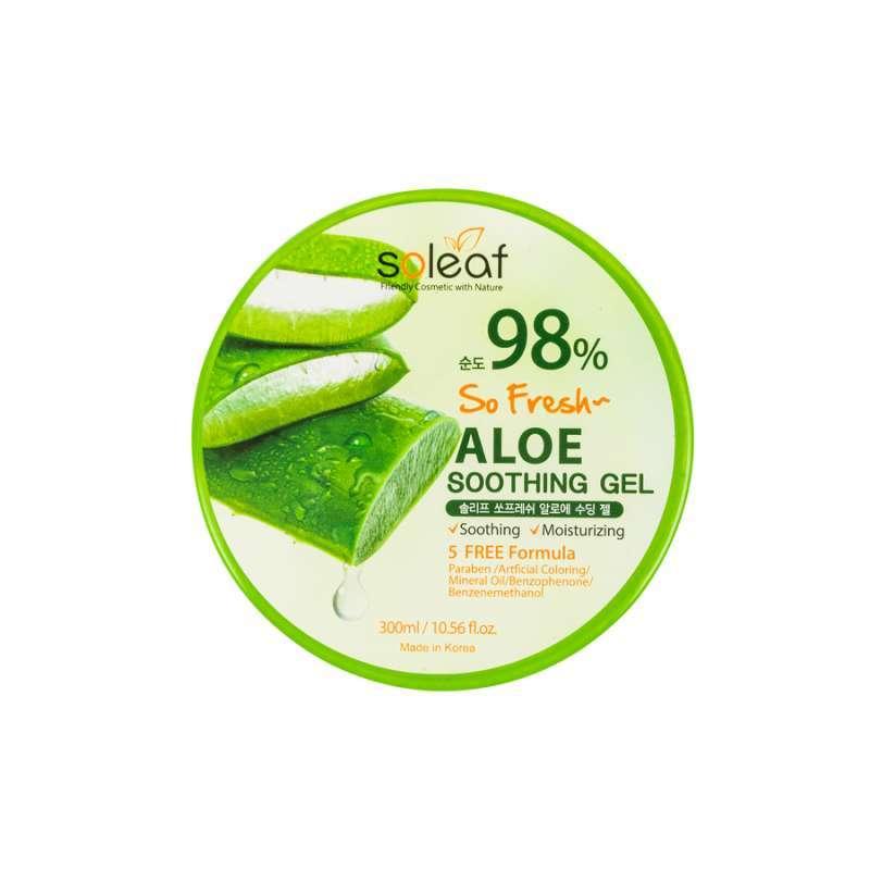 Jual Soleaf So Fresh Aloe Vera Soothing Gel 98 300 Ml Online Februari 2021 Blibli