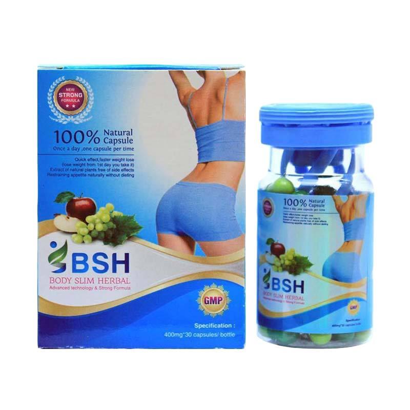 Pelangsing Herbal BSH Body Sliming Obat Diet Paling Ampuh ( 3 Botol )