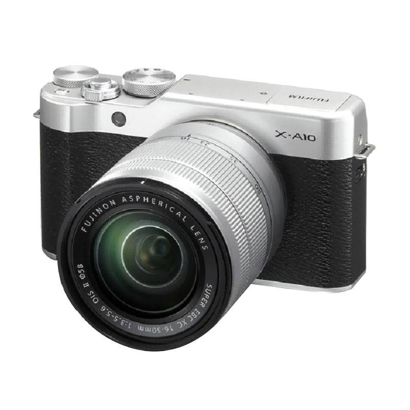 Fujifilm X-A10 Kit XC 16-50mm f/3.5-5.6 OIS II Kamera Mirrorless - Silver