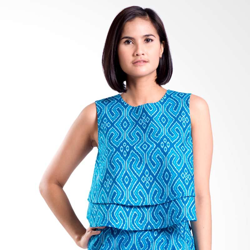 Bateeq CL15-010B Cotton Sleeveless Blouse - Blue