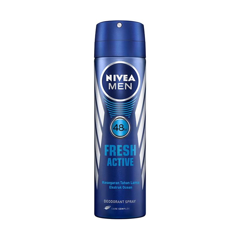 Nivea Fresh Active Deodorant Spray Pria [150 mL]