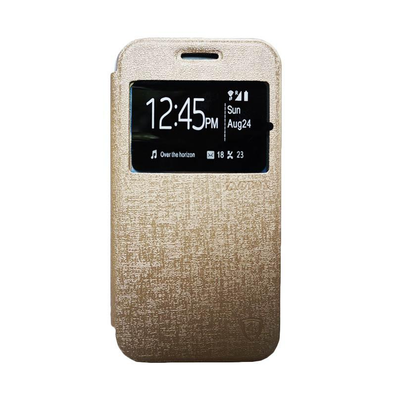 Zagbox Flip Cover Casing for Samsung Galaxy E5 - Gold