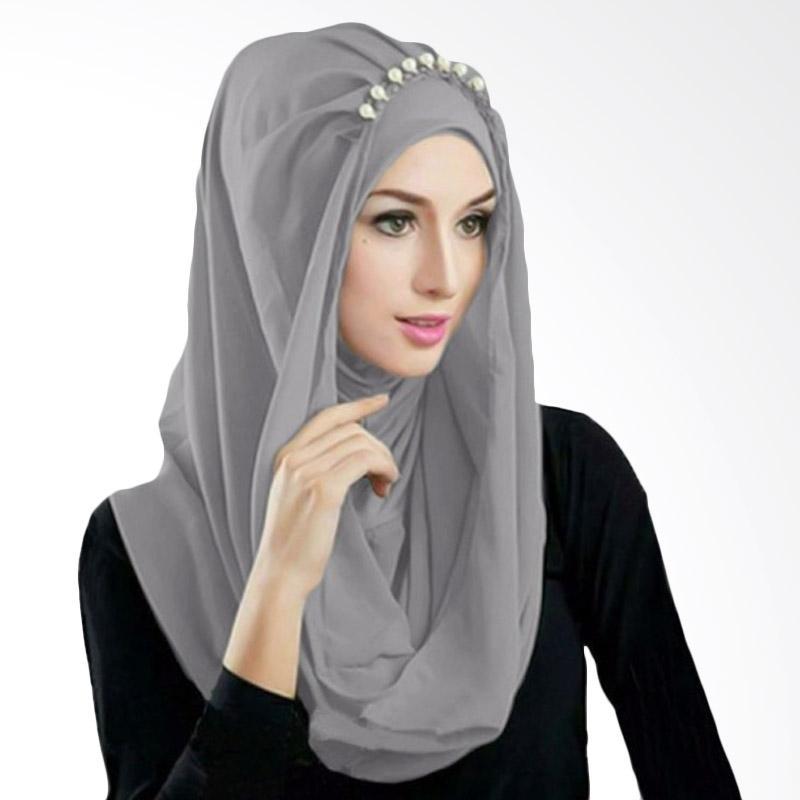 Kus Group Hijab Deeja Pearly Bergo - Abu